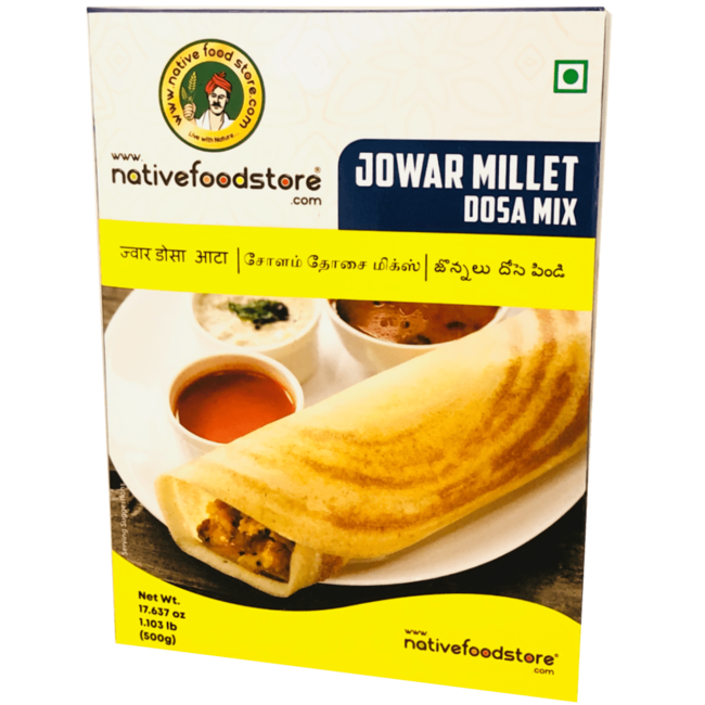 Native Food Jowar Millet Dosa Mix - 500 gr (Cholam)
