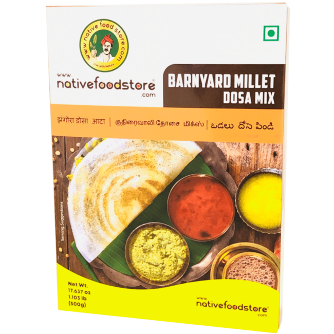 Native Food Barnyard Millet Dosa Mix (Kuthiraivali), 500 gr
