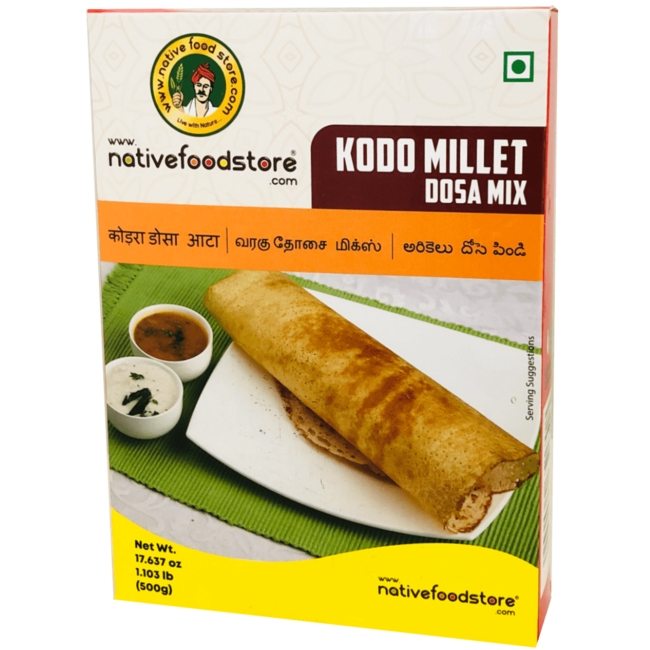 Native Food Kodo Millet Dosa Mix, 500 gr (Varagu Dosa)