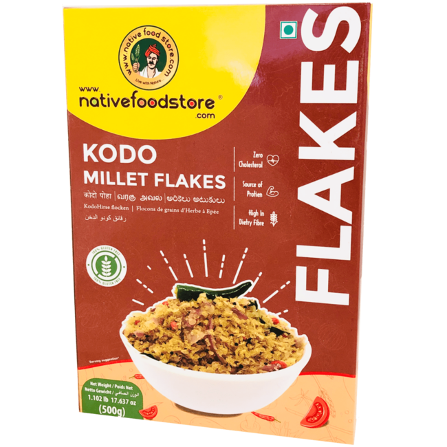 Native Food Kodo Millet Flakes - 500 gr