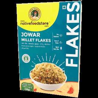 Native Food Jowar Millet Flakes, 500 gr