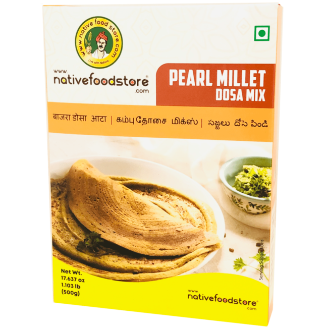 Native Food Pearl Millet Dosa Mix (Kambu), 500 gr