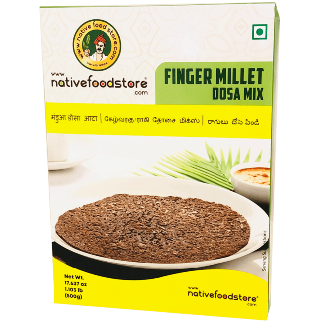 Native Food Finger Millet Dosa Mix - 500 gr (Ragi)