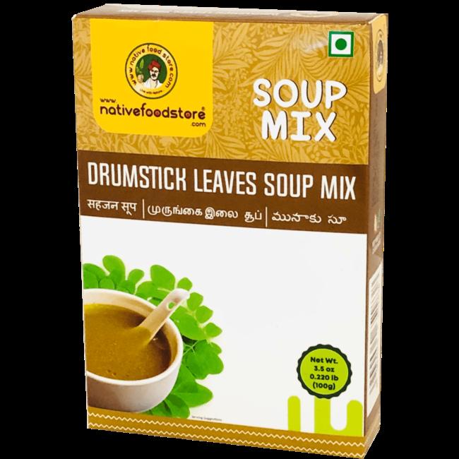 Native Food Soep Mix: Drumstick Leaves (Moringa blad), 100 gr