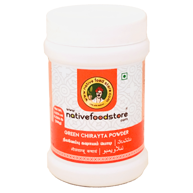 Native Food Green Chirayta Powder, 100 gr
