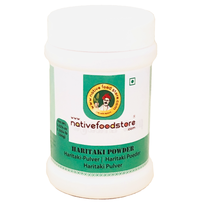 Native Food Haritaki Powder, 100 gr