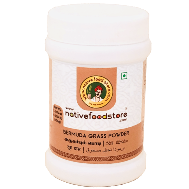 Native Food Bermuda Grass Powder, 100 gr