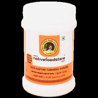 Native Food Wild Kasturi Turmeric Powder, 100 gr