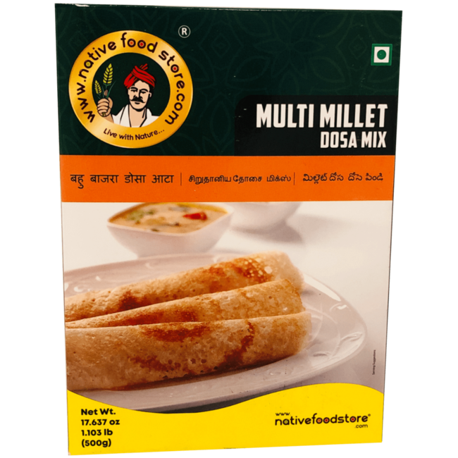 Native Food Multi Millet Dosa Mix, 500 gr