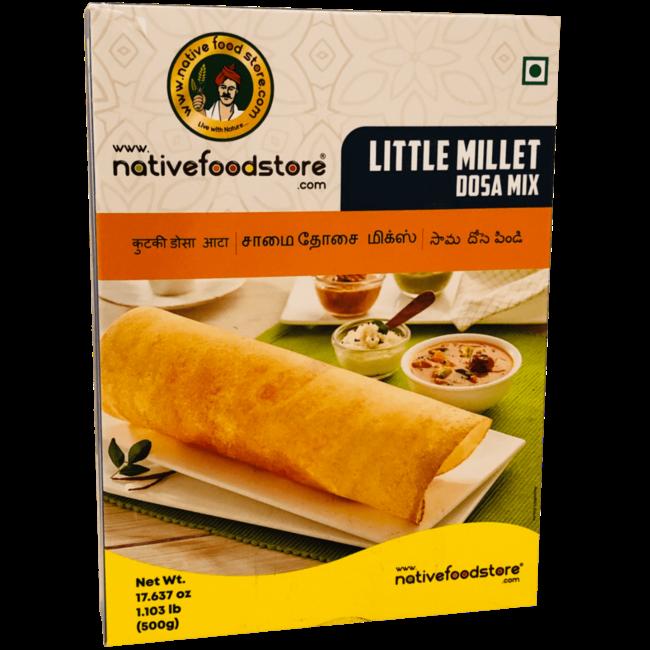 Native Food Little Millet Dosa Mix - 500 gr (Samai Millet)