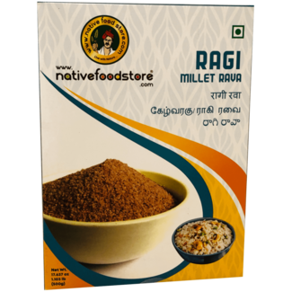 Native Food Ragi Millet Rava (griesmeel) - 500 gr