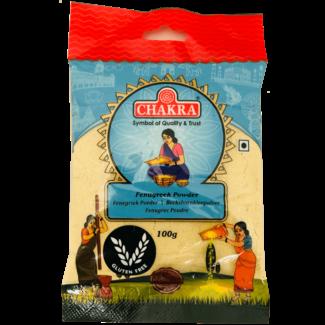 Chakra Fenugreek Powder (Fenegriekpoeder), 100 gr