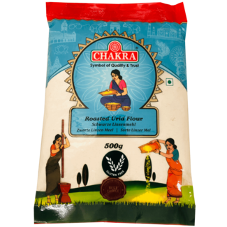 Chakra Roasted Urid Flour (Zwarte Linzenmeel), 500 gr