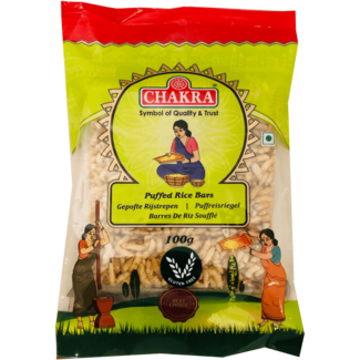 Chakra Puffed Rice Bars (Gepofte Rijstrepen), 100 gr