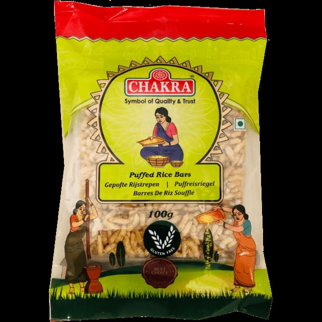 Chakra Puffed Rice Bars (Gepofte Rijstrepen), 100 gr