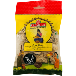 Chakra Dried Ginger (Gedroogde Gember), 100 gr