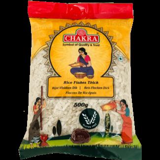 Chakra Rice Flakes Thick (Rijstvlokken Dik), 500 gr