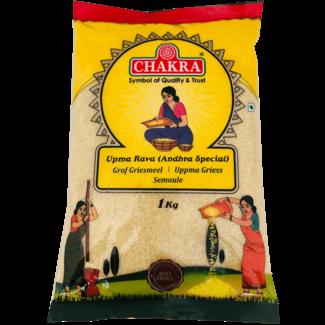 Chakra Upma Rava - Andhra Special (Grof Griesmeel), 1 kg