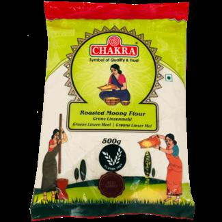 Chakra Roasted Moong Flour (Geroosterd Linzen Meel), 500 gr