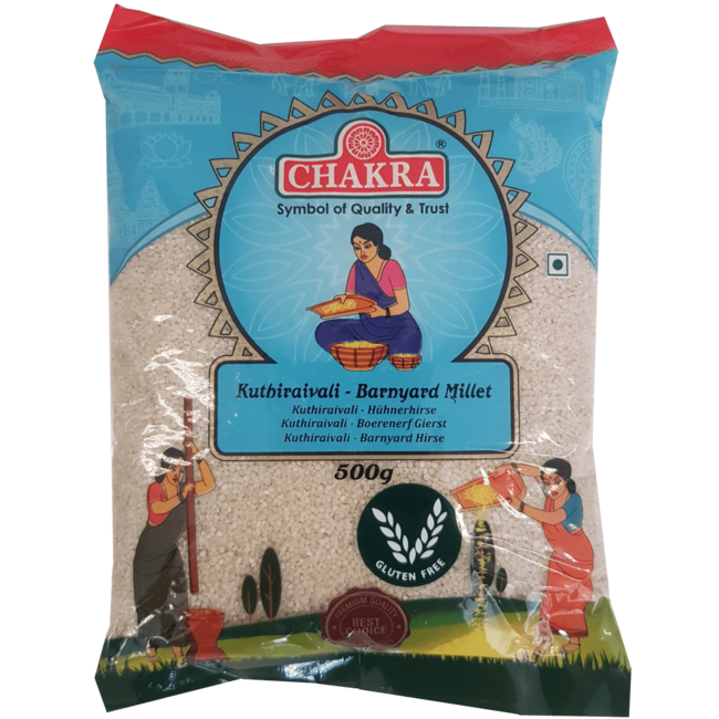 Chakra Kuthiraivali Barnyard Millet  (Gierst), 500 gr