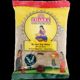 Chakra Brown Top Millet (Gierst), 500 gr