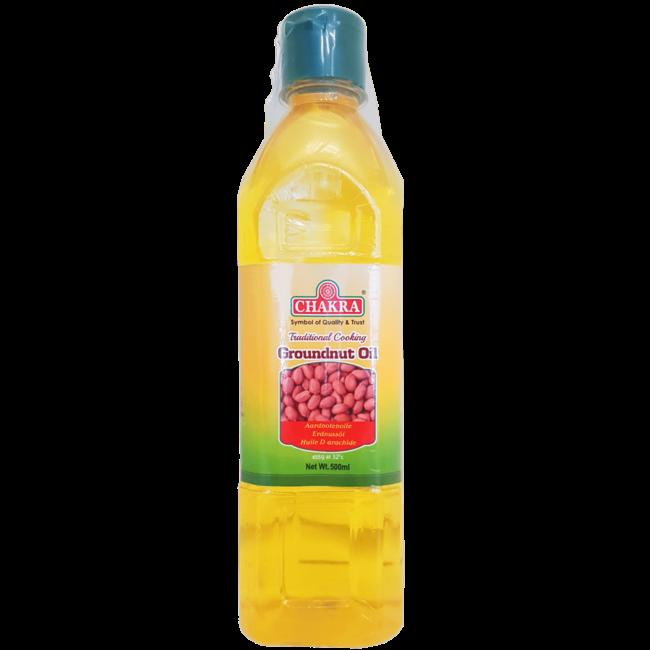 Chakra Groundnut Oil (pinda olie), 500 ml