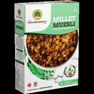 Native Food Millet Muesli met Gierst Linzen Zaden en Fruit