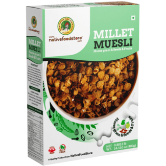 Native Food Millet Muesli with Horse gram Seeds and Fruits