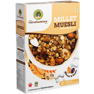 Native Food Millet Cereal with Almon and Rasisin