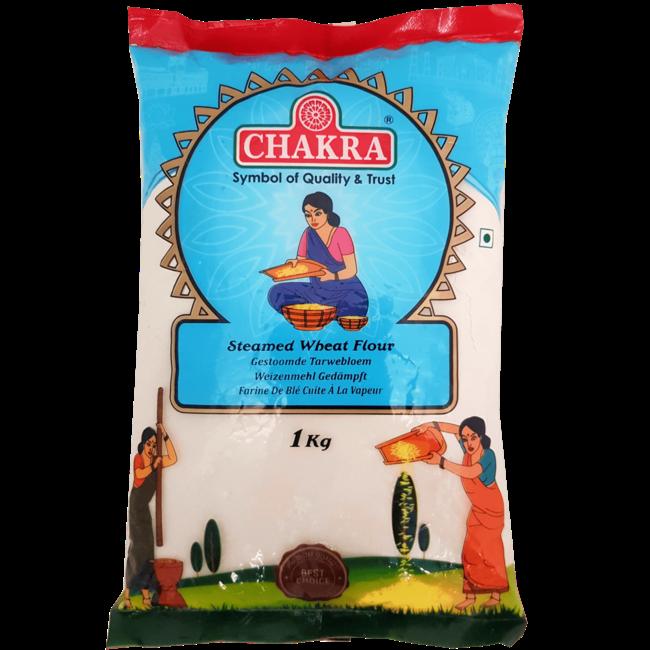 Chakra Steamed Wheat Flour (Tarwemeel), 1 kg