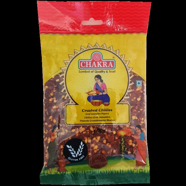Chakra Crushed Chillies, 100 gr