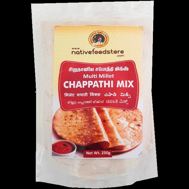Native Food Multi Millet Chappathi Mix, 250 gr