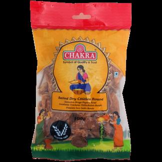 Chakra Salted Dry Chillies Round, 100 gr