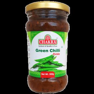 Chakra Green Chilli Pickle (groene peper), 300 gr