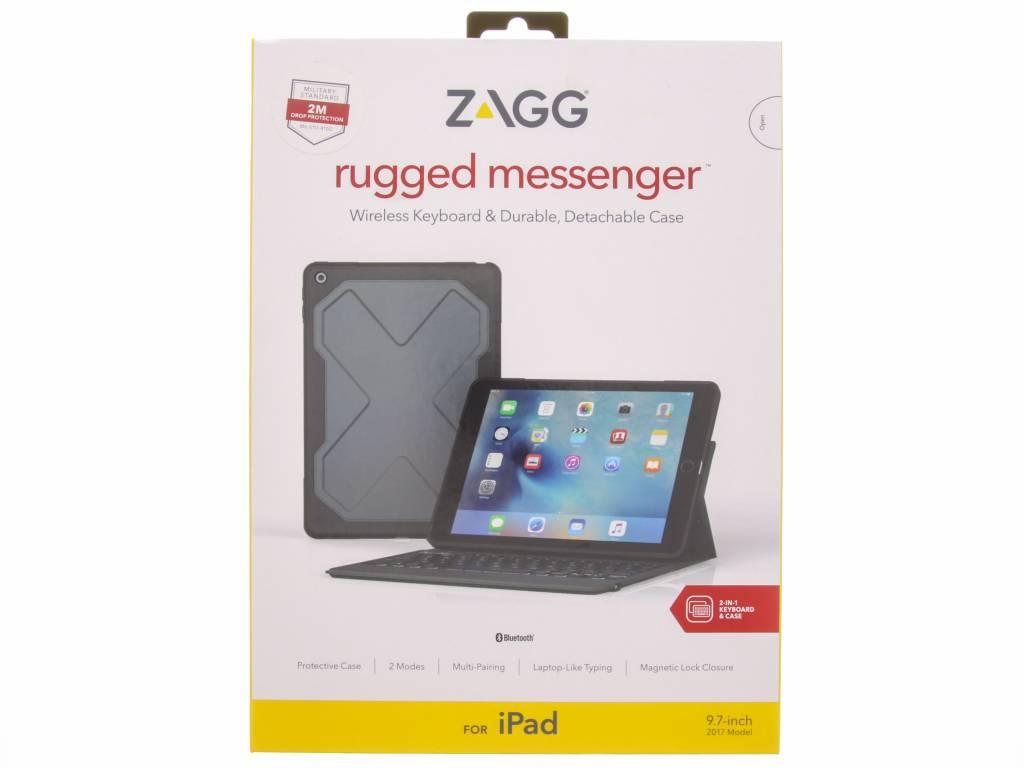 ZAGG Zwarte Rugged Messenger voor de iPad (2018) / (2017)