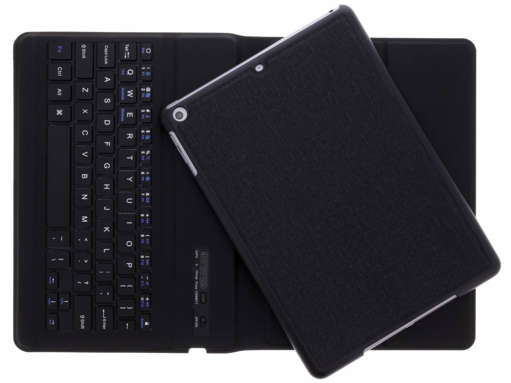 Gecko Covers Keyboard 2-in-1 Cover voor iPad (2017) / (2018) - Donkergrijs