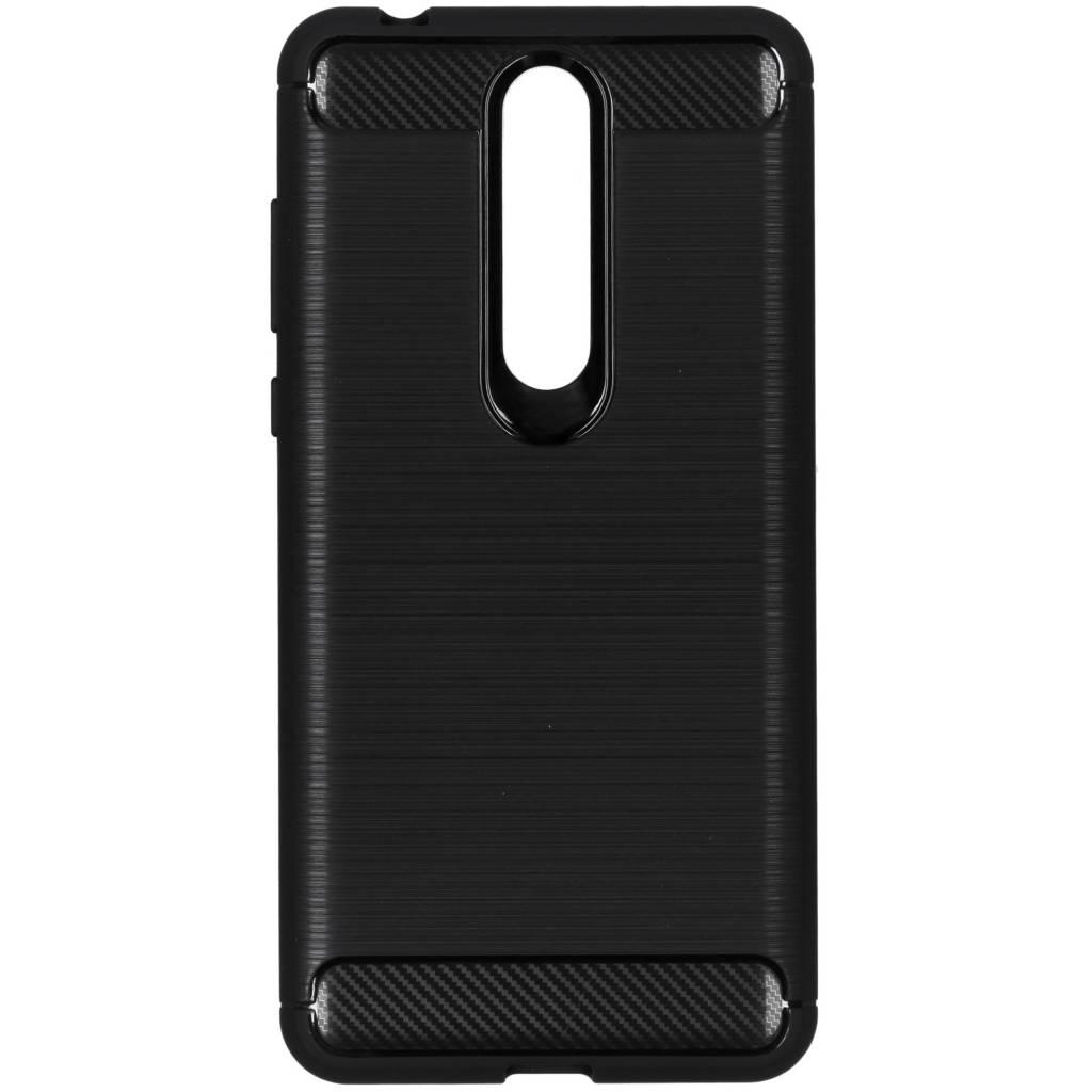 Zwarte Brushed TPU case voor de Nokia 3.1 Plus