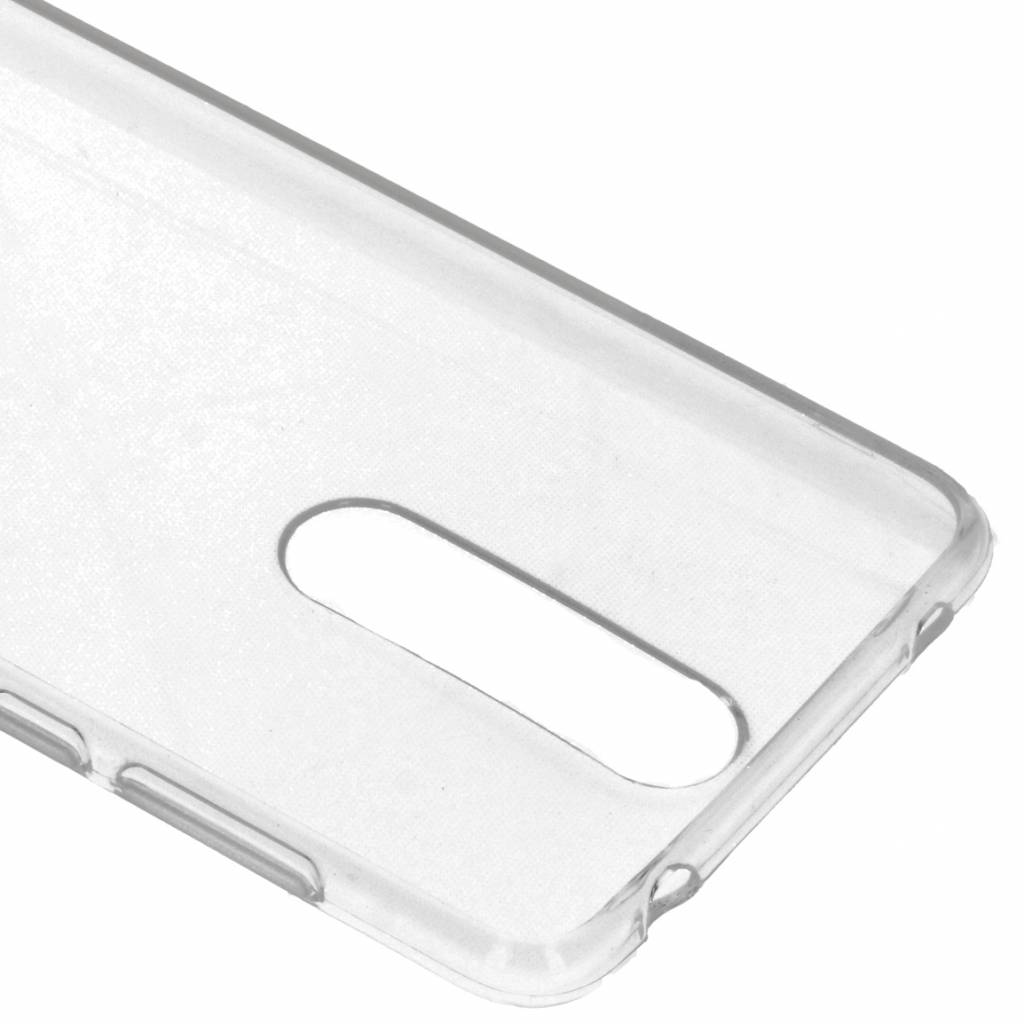 Softcase Backcover voor Nokia 3.1 Plus - Transparant