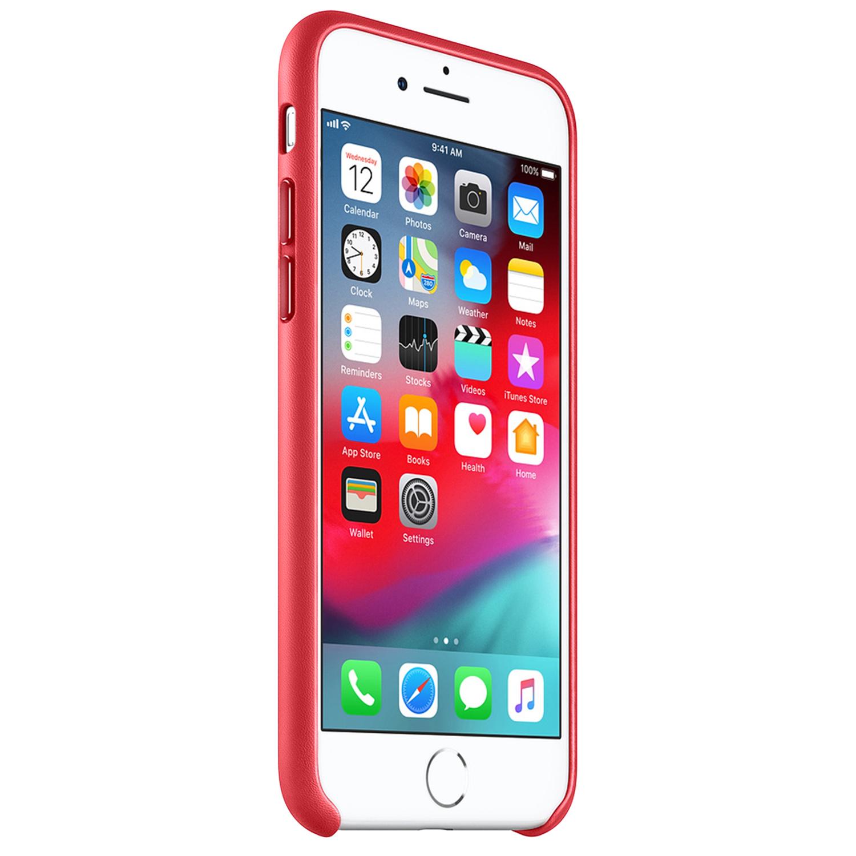 Apple Leather Backcover voor de iPhone 8 / 7 - Rood