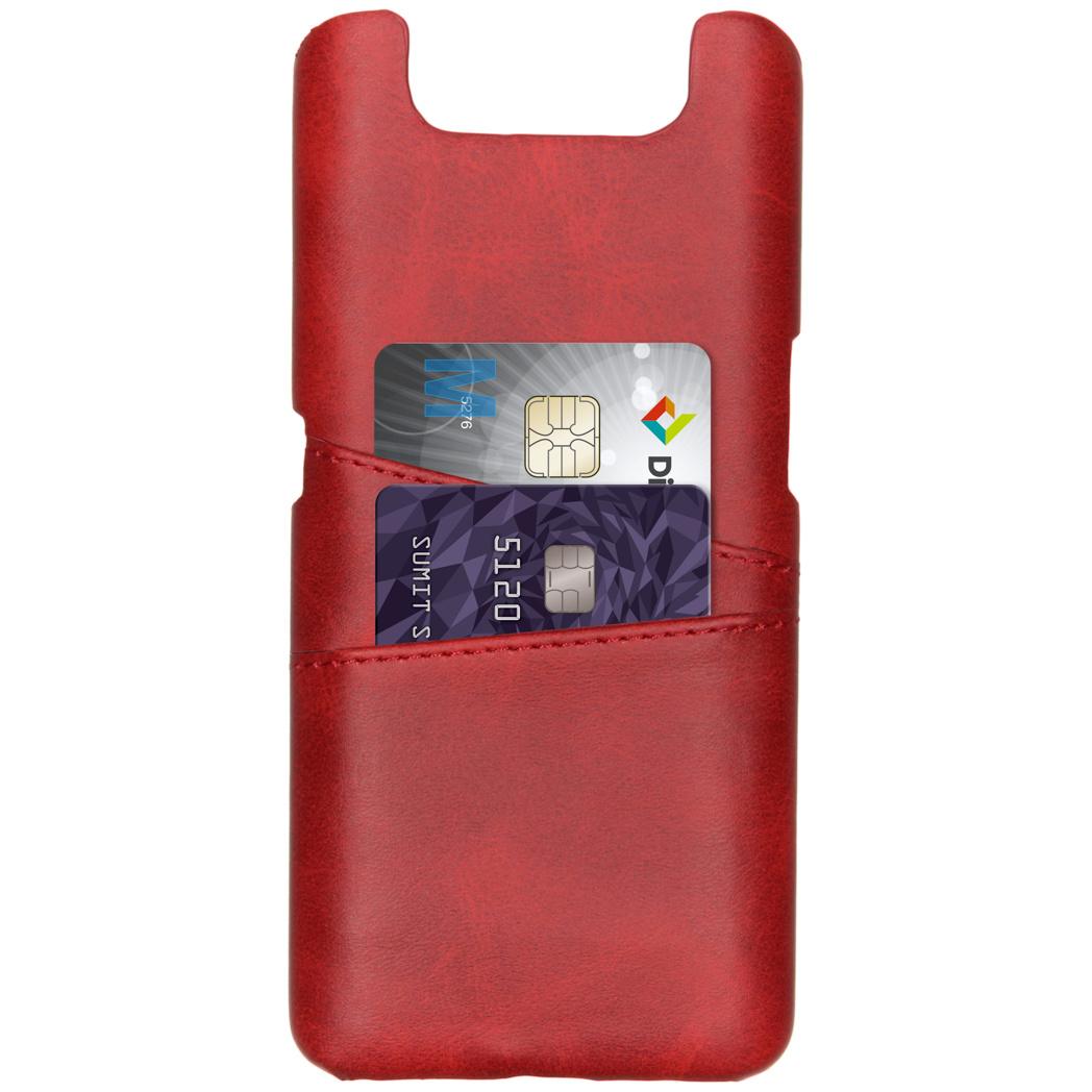 Cardholder Backcover voor de Samsung Galaxy A80 - Rood