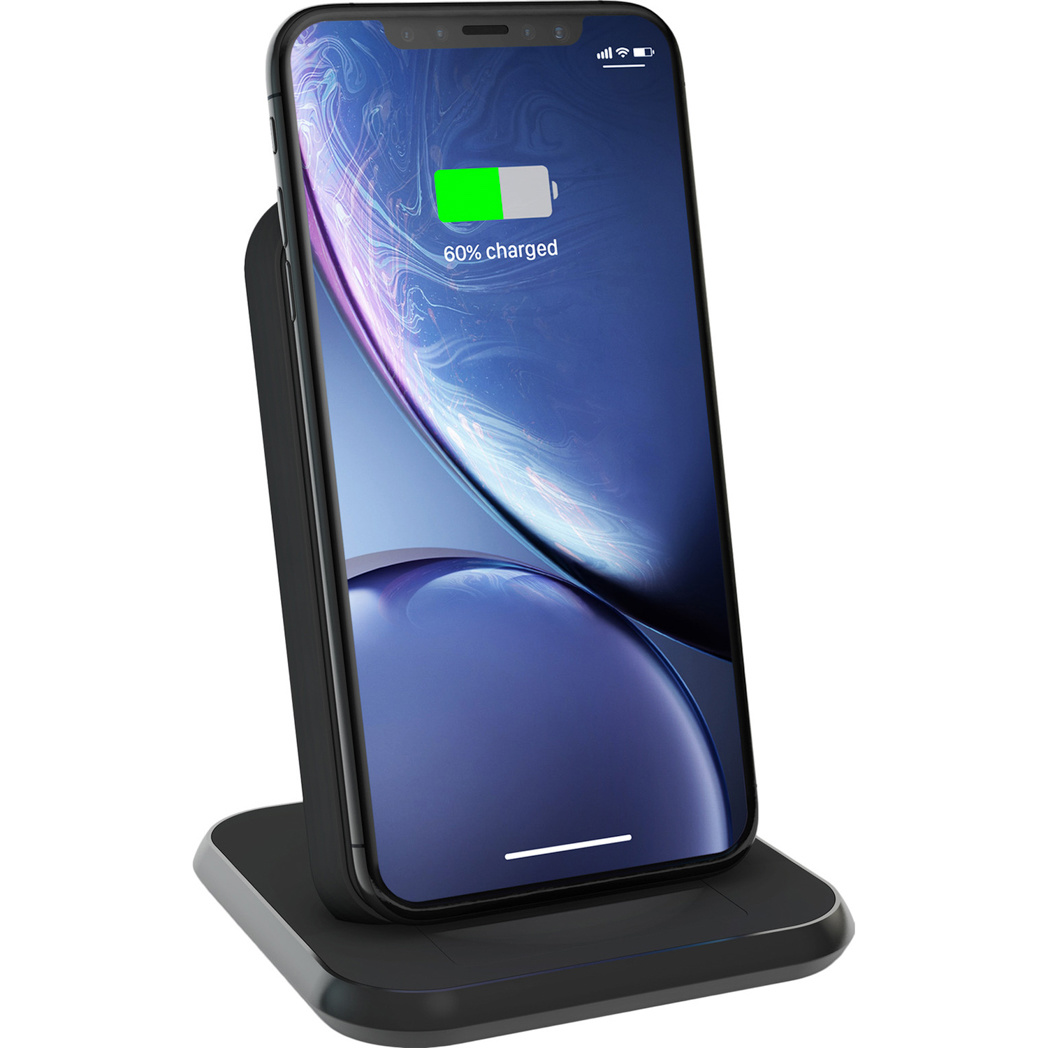 Zens Aluminium Stand Wireless Charger 10W - Zwart