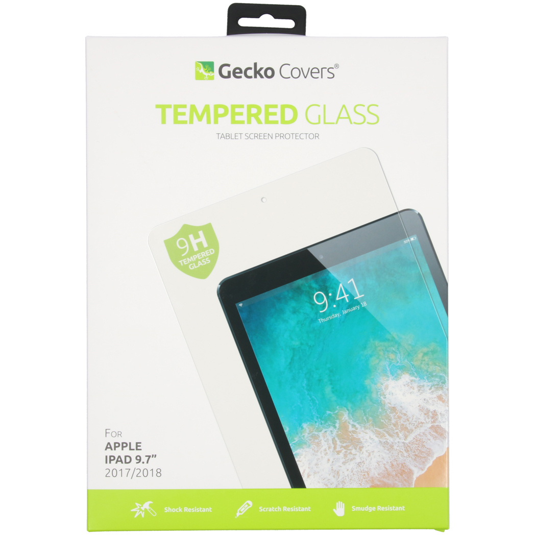 Gecko Covers Tempered Glass Screenprotector voor de iPad (2018) / (2017)