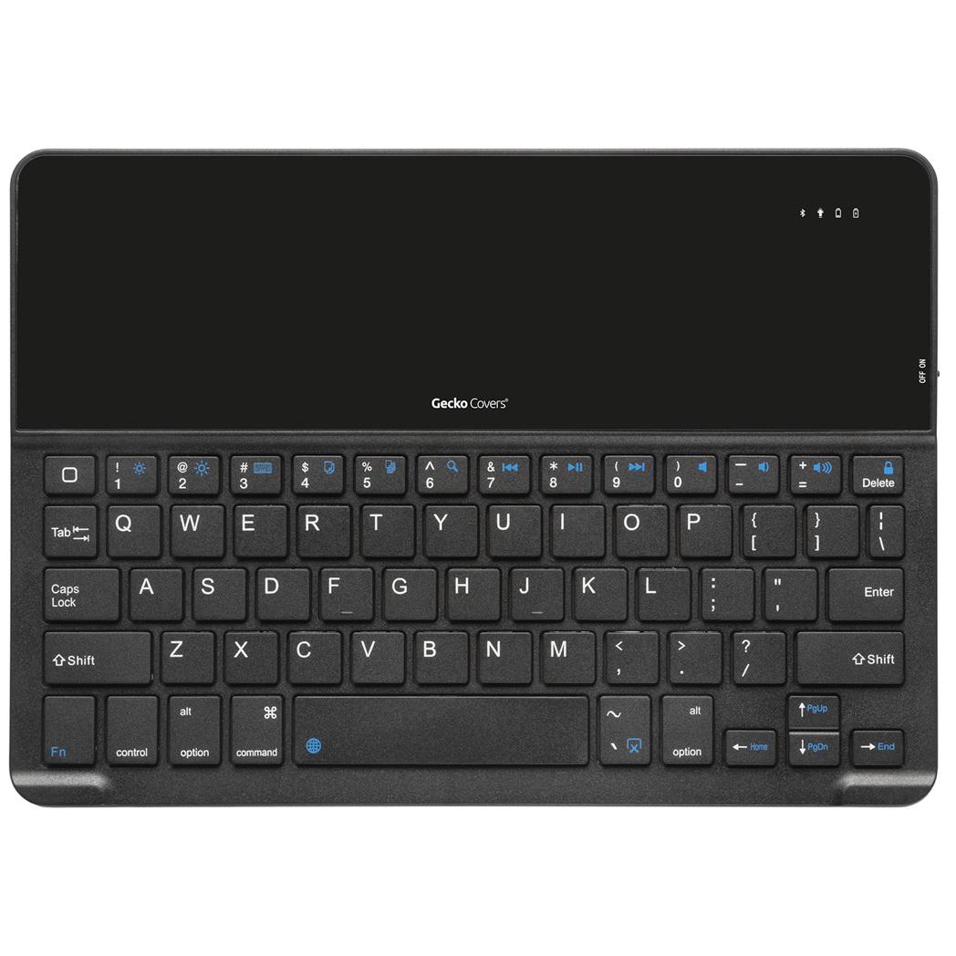 Gecko Covers Keyboard Cover QWERTY voor de iPad 10.2 (2019) - Zwart