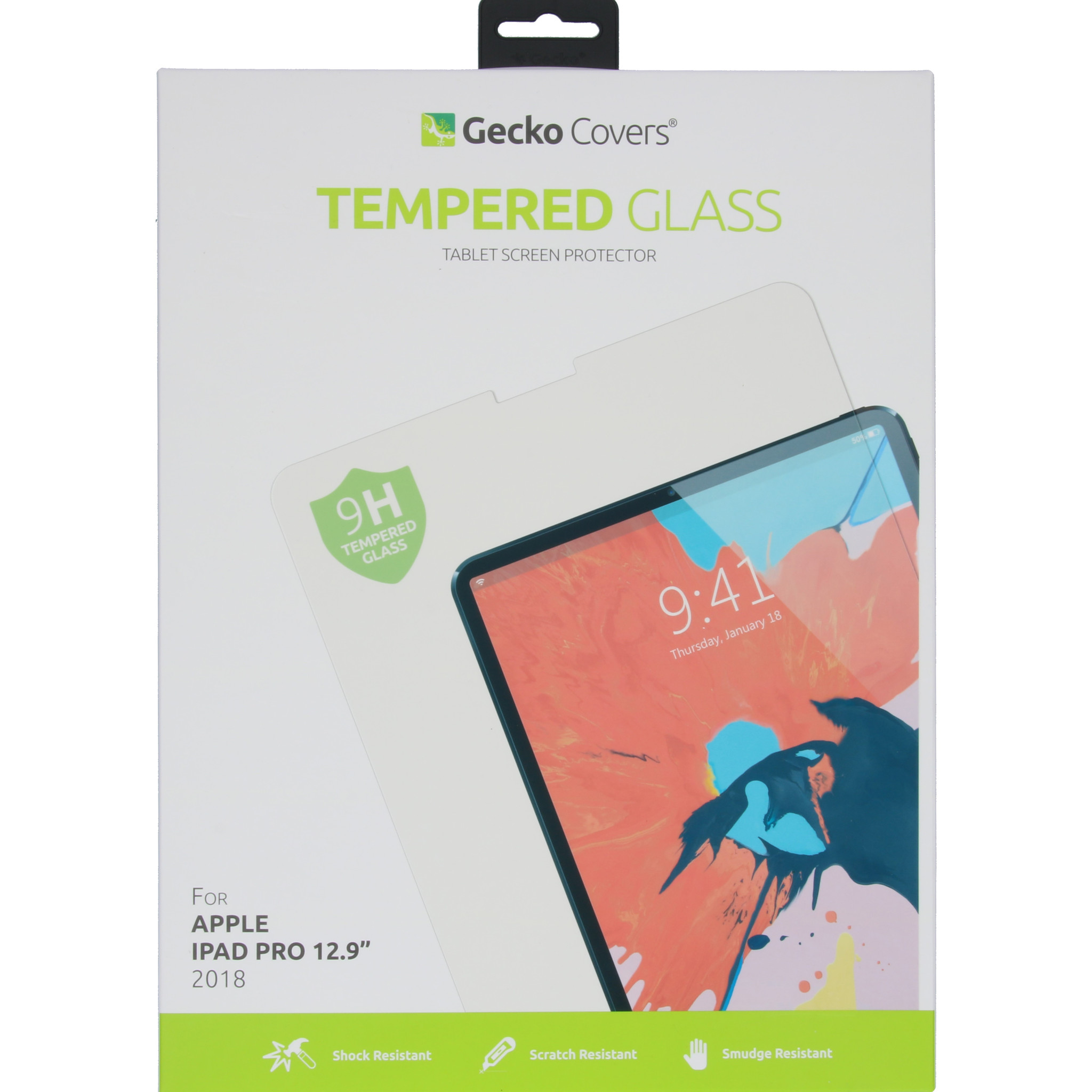Gecko Covers Tempered Glass Screenprotector voor de iPad Pro 12.9 (2018)