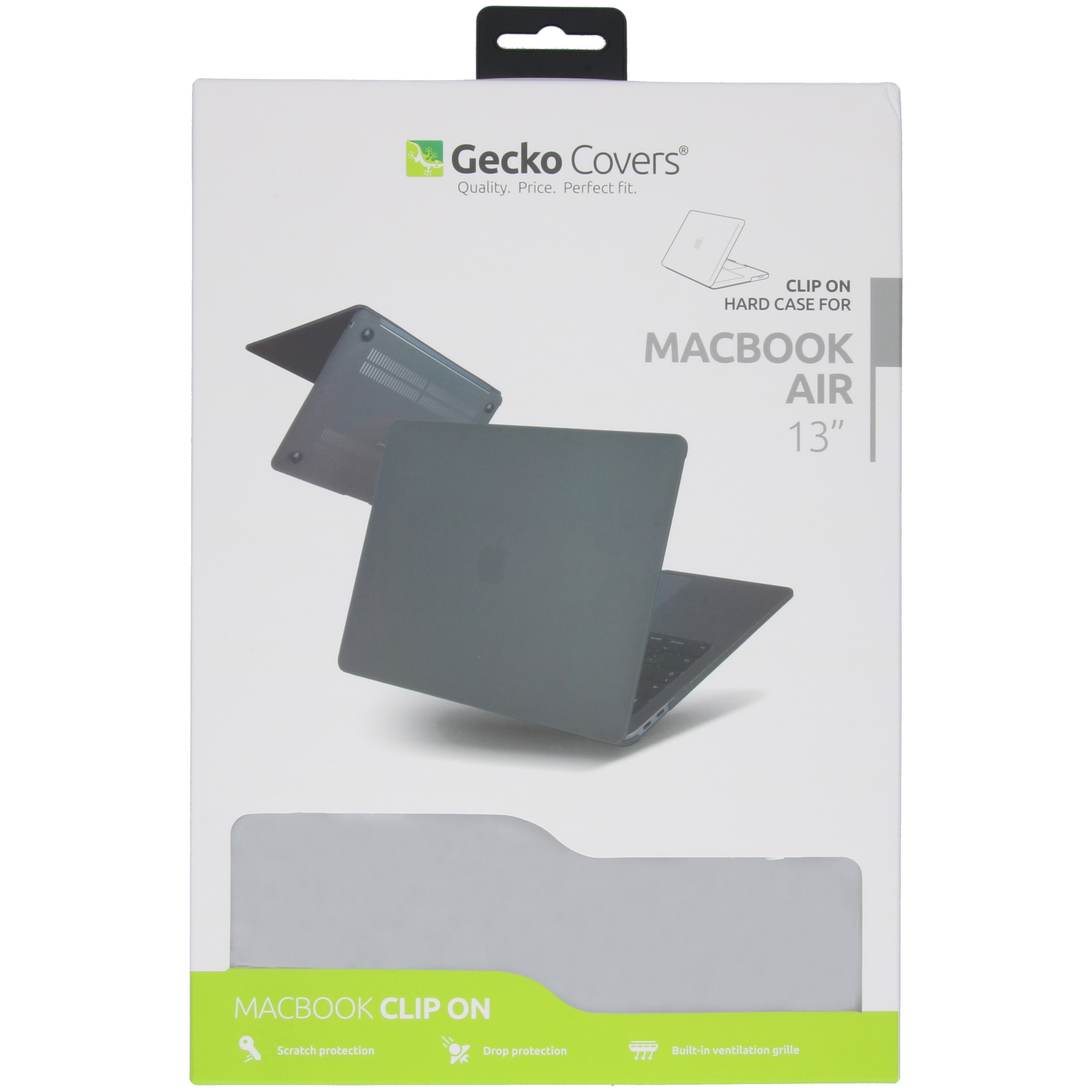 Gecko Covers Clip On Hardshell Cover voor de MacBook Air 13 inch (2018-2020) A1932/A2179