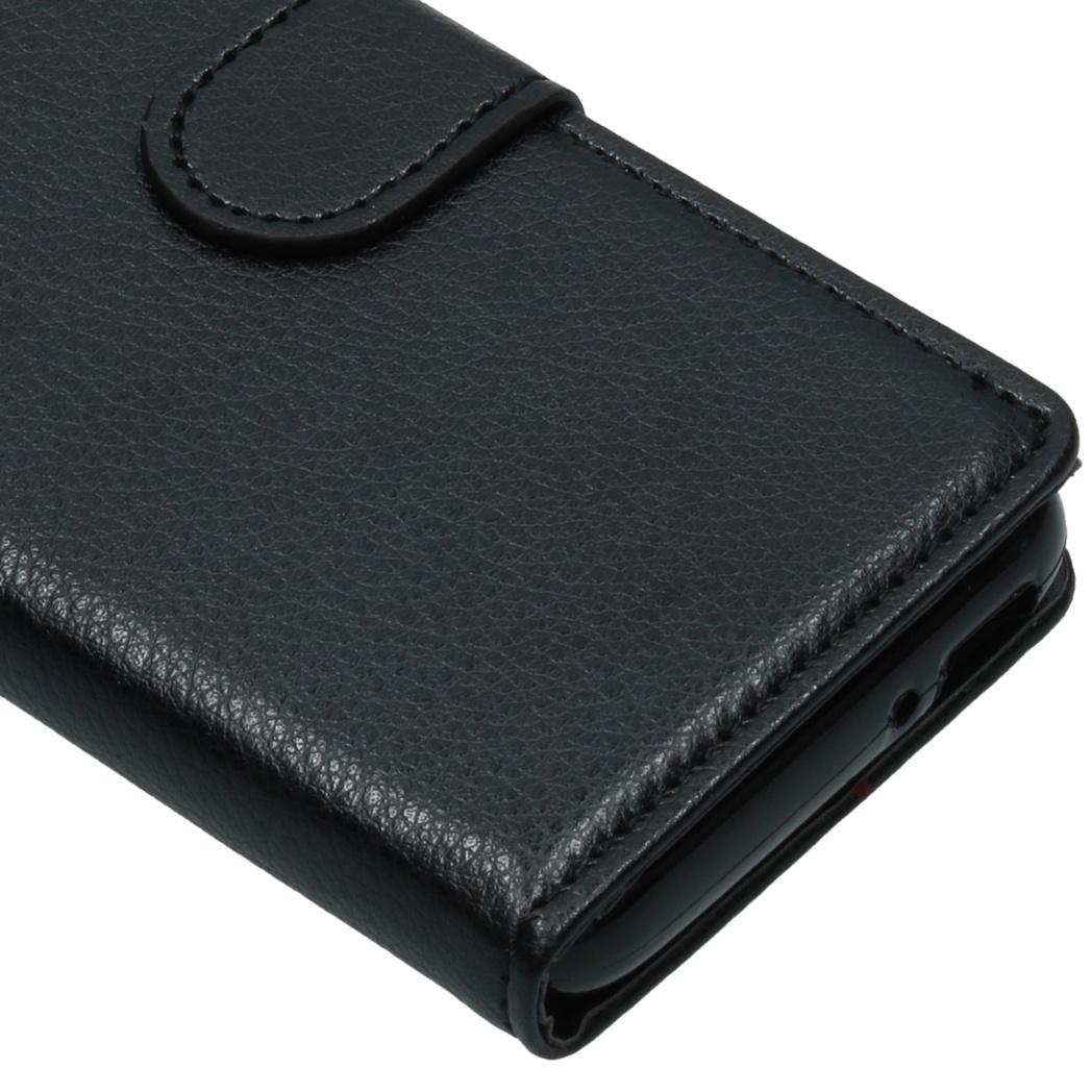 Basic Litchi Booktype voor de Alcatel 1 - Zwart