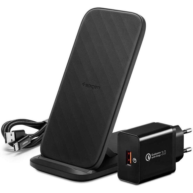 Spigen SteadiBoost Flex Wireless Charger - Zwart