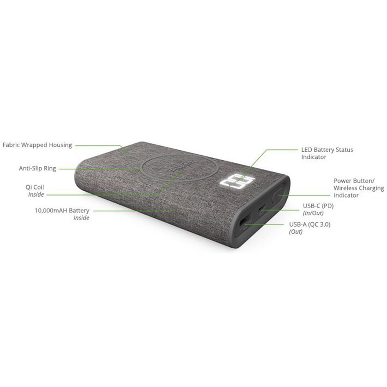 iOttie iON Wireless Go Powerbank 10.000 mAh - Grijs