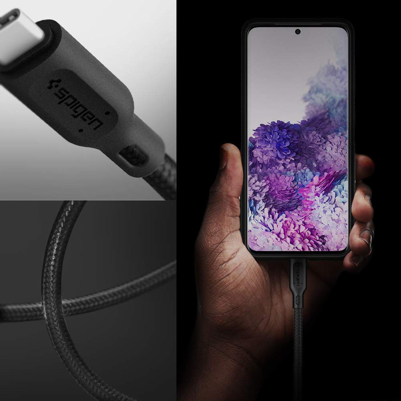 Spigen Essential Braided USB-C naar USB-C kabel - 1,5 meter - Zwart