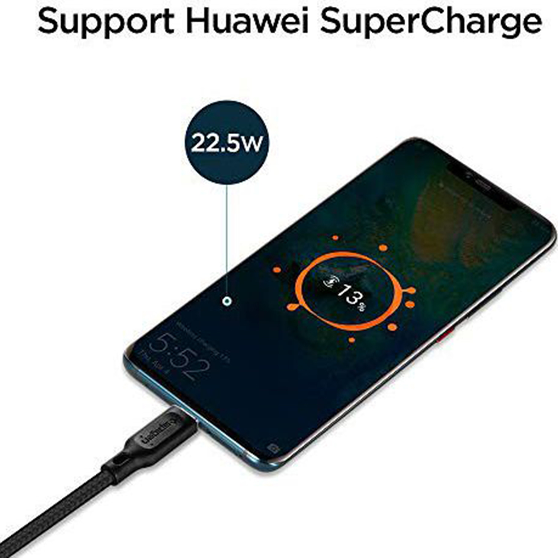 Spigen Essential Braided USB-C naar USB kabel - 1,5 meter - Zwart